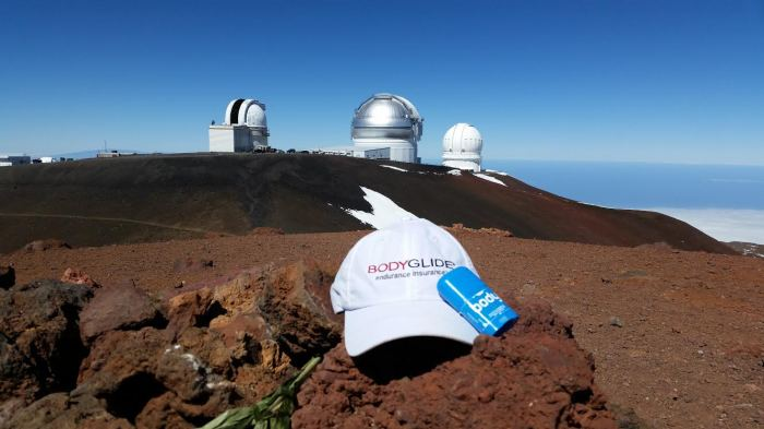 Ran up Mauna Kea (13,796') in Hawaii after the HURT 100 miler.  (Photo credit: Cassie Scallon)