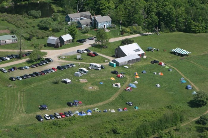 Bird's-eye view of the Blueberry Hill race venue.  Can you spot the RV?
